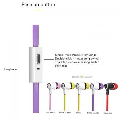 Langsdom Вакуумные качественные наушники-вкладыши-гарнитура с микрофоном 3,5 мм с плоским проводом