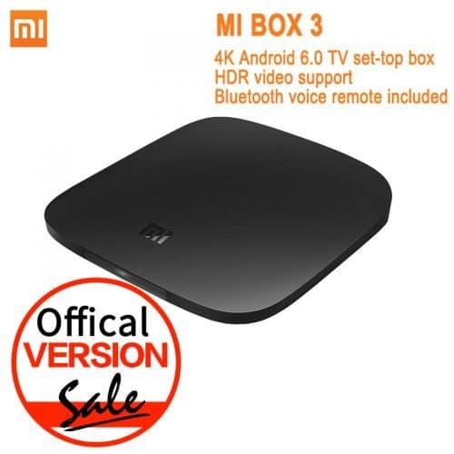 Медиаплеер смарт тв-приставка Xiaomi Mi Box 3 Android 6.0, Bluetooth