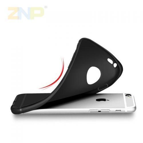 Мягкий силиконовый однотонный чехол-бампер на айфон (iPhone) 5, 6, 7
