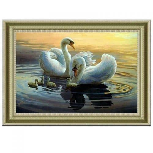 Набор большой вышивки крестом 11 СТ Лебеди