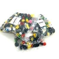 Набор пластиковых универсальных крепежей для авто