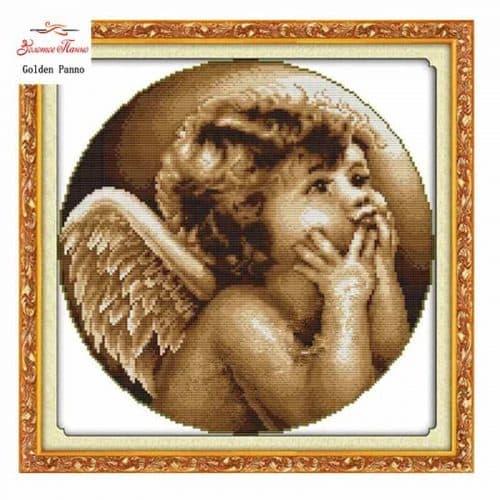 Набор вышивки крестом 11 СТ Ангелочек