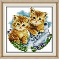 Набор вышивки крестом 11 СТ Два котенка