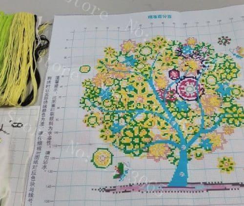 Набор вышивки крестом Дерево (Времена года)