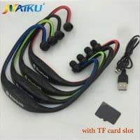 NAIKU Вакуумные спортивные беспроводные качественные Bluetooth наушники-вкладыши-гарнитура с микрофоном, регулятором громкости и поддержкой карт памяти