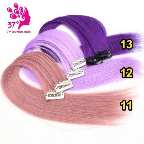 Накладные цветные пряди волос на заколках