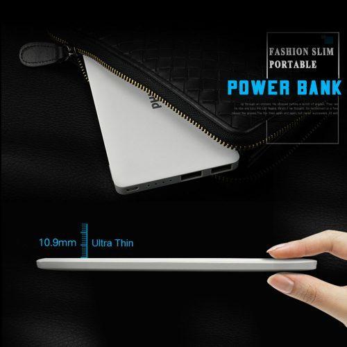 Philips Power Bank ультра тонкое портативное зарядное внешнее устройство на 10000 мАч с двумя usb портами