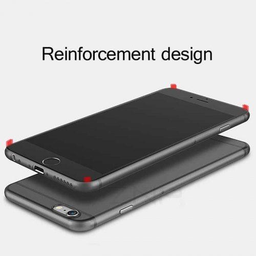 Полупрозрачный ультратонкий матовый однотонный чехол бампер накладка задняя крышка на Айфон (iPhone)6, 7