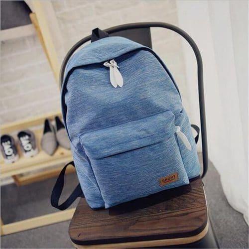 Рюкзак женский/мужской тканевый городской молодежный школьный однотонный без рисунка для путешествий 20-35 л
