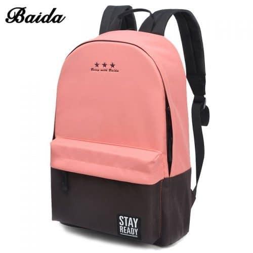 Рюкзак женский/мужской тканевый городской школьный молодежный двухцветный 20-35 л (много расцветок)