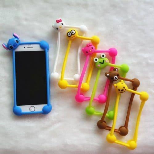 Силиконовый 3D чехол бампер-рамка с мультяшками на Айфон (iPhone) 4, 5, 6, 7 и для телефонов 5.5″