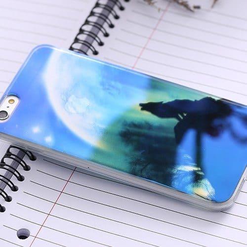 Силиконовый прозрачный/с рисунком чехол-бампер на айфон (iPhone) 5, 6, 7