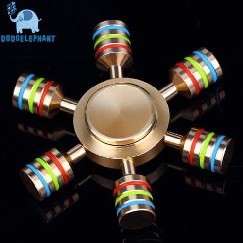Спиннер-радуга с 6 сторонами hand spinner пальчиковая игрушка-антистресс вертушка для рук