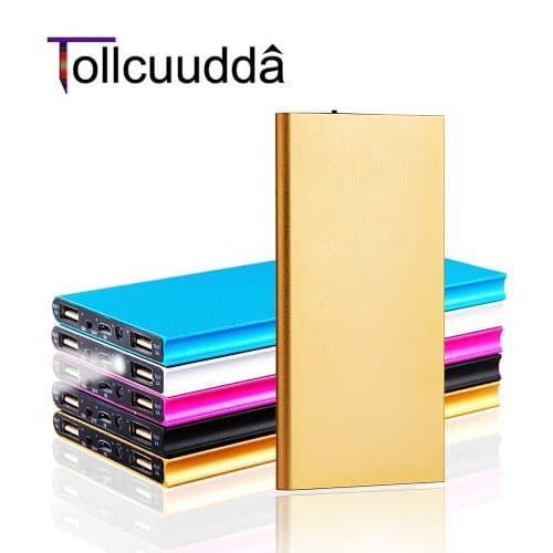 Tollcuudda 18650 Powerbank ультра тонкое портативное зарядное внешнее устройство на 10000 мАч с двумя usb портами