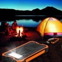 Tollcuudda Power bank солнечное портативное зарядное устройство на 10000 мАч с фонариком