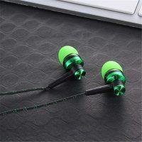 Вакуумные качественные стерео наушники 3,5 мм с плетеным проводом