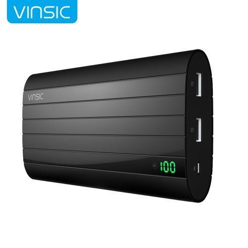 Vinsic IRON P6 Power Bank портативное зарядное внешнее устройство на 20000 мАч с двумя usb портами