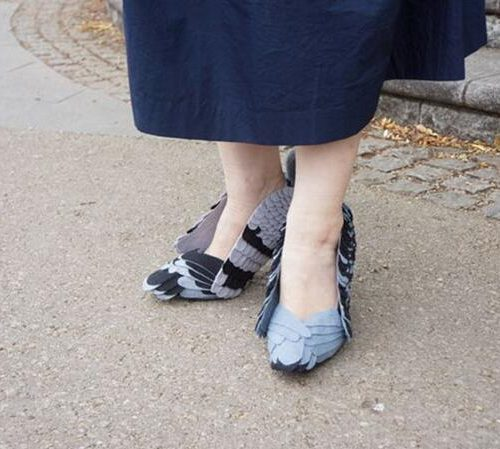 Японские женские туфли в виде голубей