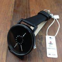 Женские наручные кварцевые повседневные черные и белые часы с аналоговым дисплеем и необычным циферблатом