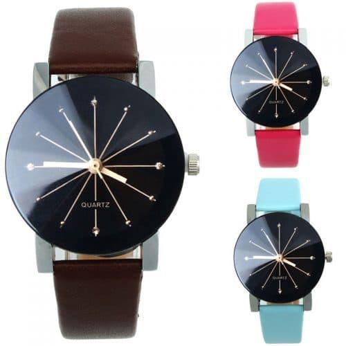 Женские наручные кварцевые повседневные универсальные часы с аналоговым черным дисплеем