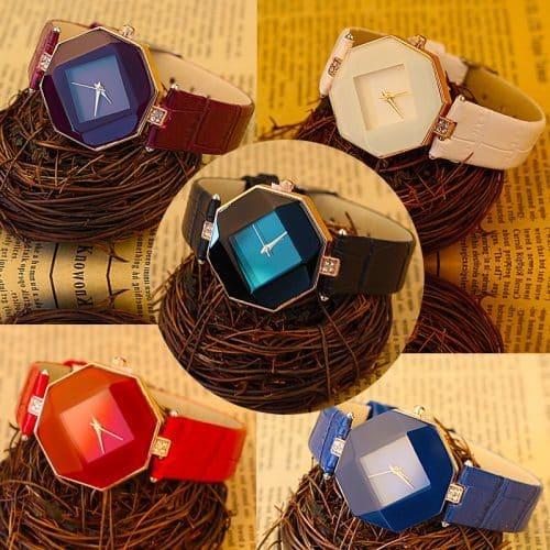 Женские наручные кварцевые ювелирные геометрические часы с аналоговым дисплеем