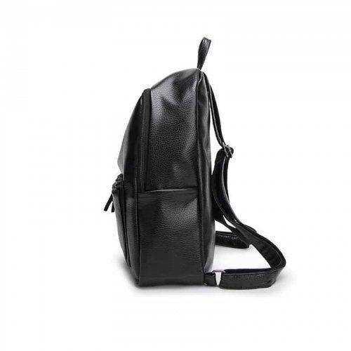 Женский небольшой черный рюкзак с ручкой на молнии на 20 л из мягкой искусственной кожи