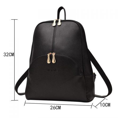 Женский небольшой рюкзак на 20 л из искусственной кожи на молнии