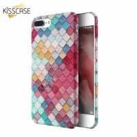Жесткий яркий чехол-бампер с разноцветными чешуйками на айфон (iPhone) 5, 6, 7
