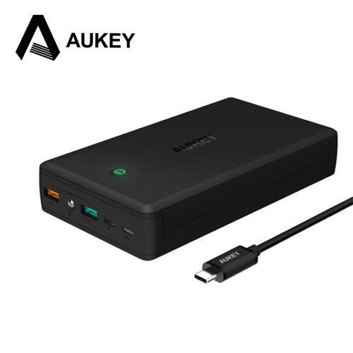 AUKEY 30000 мАч Power Bank, быстрая зарядка, портативное зарядное внешнее устройство