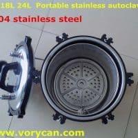 Автоклав-стерилизатор из нержавеющей стали для стерилизации инструментов 18 литров