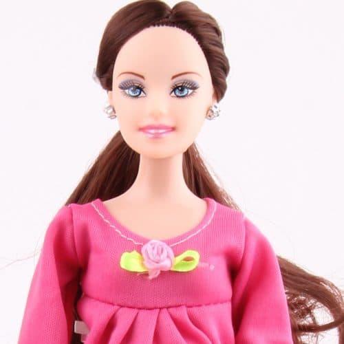 Беременная кукла Барби 30 см с ребенком, с подвижным телом, длинными темными и светлыми волосами