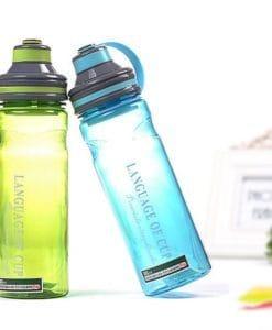 Большая пластиковая спортивная герметичная бутылка для воды для фитнеса 600/800/1000 мл