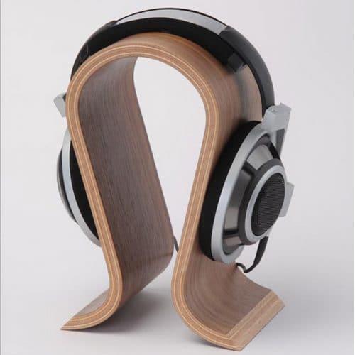 Деревянная настольная стойка-стенд-держатель для наушников