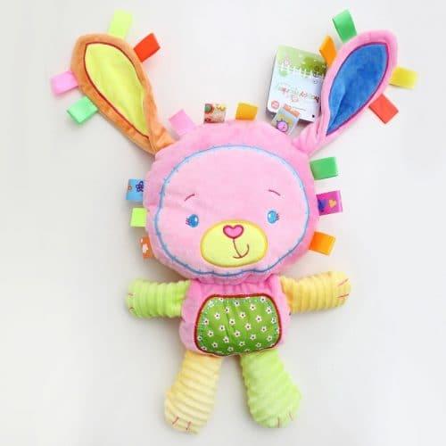Детская яркая мягкая игрушка-погремушка в виде животных