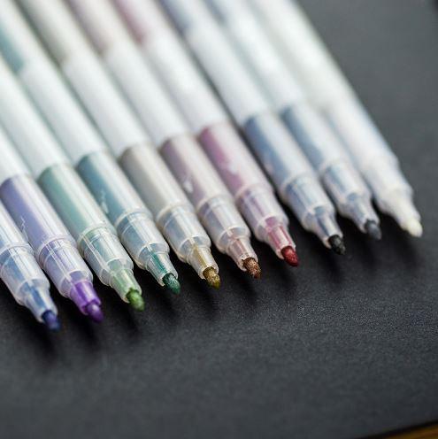 Набор маркеров цвета металлик (10 штук)