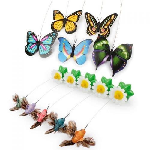 Электронная игрушка с вращающейся летающей бабочкой для кошки