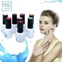 Гель-лак для маникюра и дизайна ногтей QHC 6 мл в палитре 60 цветов, база и топ