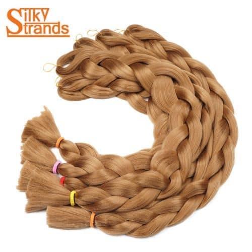 Искусственные накладные волосы-канекалон в косе 82 дюйма/165 г (33 цвета на выбор)