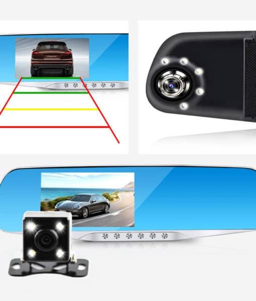 Jansite автомобильный видеорегистратор-камера ночного видения зеркало заднего вида Full HD 1080 P
