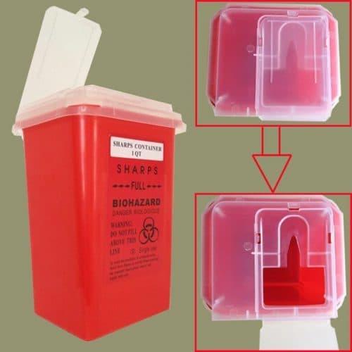 Контейнер для утилизации игл и других тату отходов, 1 л