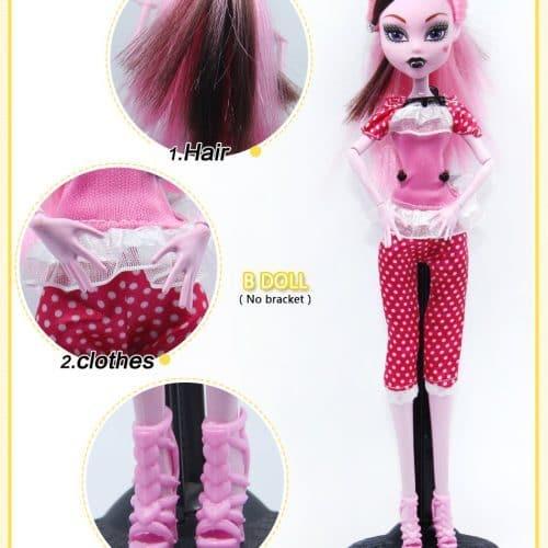 Куклы реплика Monster High: Draculaura / Clawdeen Wolf / Frankie Stein 28 см с одеждой и подвижным телом