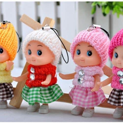 Маленькие детские мини куклы-брелоки 8 см в наборе 5 шт.