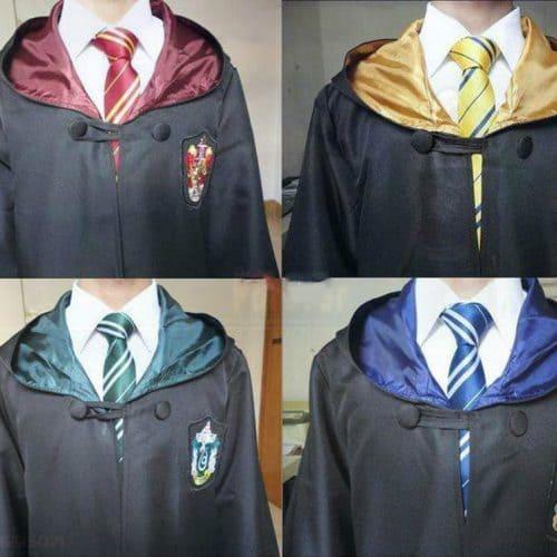 Мантия-халат + галстук Гриффиндор для взрослых и детей из фильма Гарри Поттер