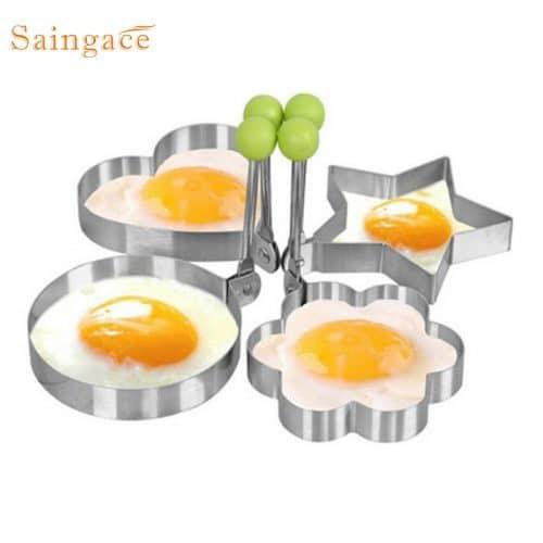 Металлическая форма из нержавеющей стали для жарки яиц или выпечки блинов, оладий