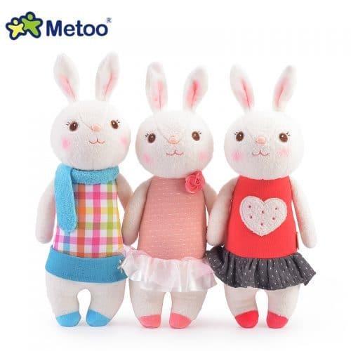 Metoo Мягкая плюшевая детская игрушка Кролик 35 см