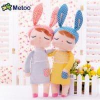 Metoo Спящий кролик (Rabbit Angela Doll) тряпичная мягкая плюшевая кукла-сплюшка 33 см