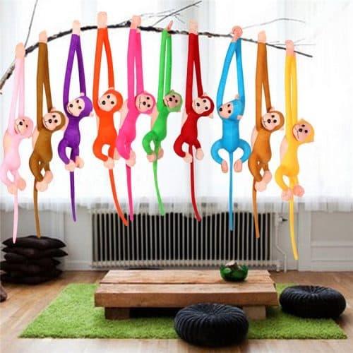 Мягкая игрушка Обезьянка 60 см с липучками на лапках