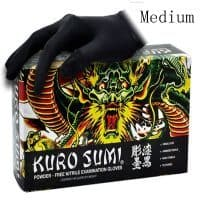 Одноразовые нитриловые перчатки для тату мастера KURO SUMI 100 шт.