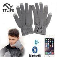 Перчатки беспроводная Bluetooth гарнитура с микрофоном TTLIFE (подходят для работы с сенсорным экраном)