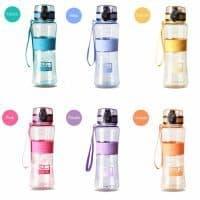 Пластиковая спортивная герметичная бутылка для воды для фитнеса 350/450/600/1000 мл